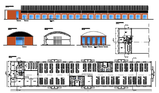 Progetto per il recupero di un capannone industriale con cambio d'uso da adibire a call center a Cagliari