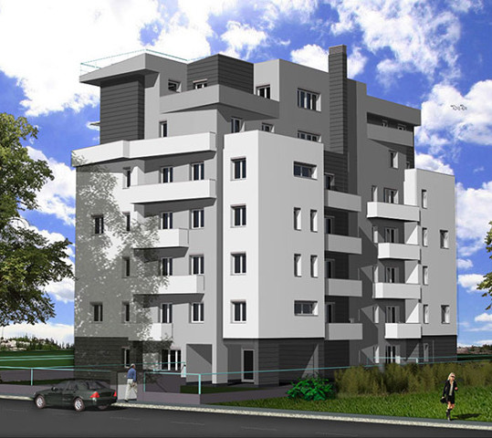 Progettazione architettonica di palazzina ad uso residenziale