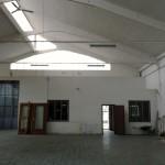 Vista uffici e soppalco capannone fronte